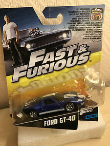 MATTEL 2017  FAST AND FURIOUS 5 FORD GT-40 BLEU 1/55