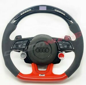 Audi RS3 RS4 RS5 2017+ LED Carbon Fibre Steering Wheel - Customisable Options