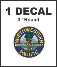 North Western Pacific Redwood Empire Route Railway Railroad Rail Road Decal