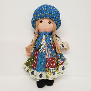 "Knickerbocker 9"" Holly Hobbie Vintage Cloth Rag Doll"