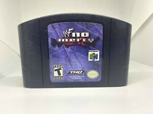 WWF No Mercy N64 (Nintendo 64, 2000) Authentic, Cleaned & Working!