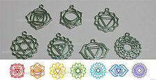 7 PC Chakra Reiki  Energy Symbols Amulet Charm Set - FREE POST AU