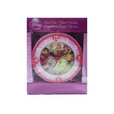 PRINCESSES réveil rose claire et fuchsia plastique 8x8 cm de petite fille