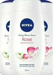 3 x Nivea Shower Gel Rose 250ml
