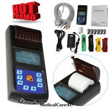 Handheld ECG Monitor EKG Machine Single Channel LCD Electrocardiograph 12 Leads