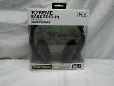 IHIP Maniac Headphones With In-Line Microphone - OPEN BOX BLUE/BLACK