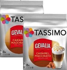 2 x Packs Tassimo Gevalia Latte Macchiato Caramel T Discs Pods - 16 Large Drinks