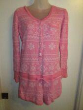 Victoria's Secret M Romper One Piece Pajama Sleepwear Pink White