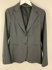 Theory Women's Size 6 Rory Blazer Suit Jacket Charcoal Gray Wool Career $370