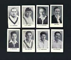 THOMSON - THE WORLD'S BEST CRICKETERS (MAUVE, 1965) - 8 CARDS