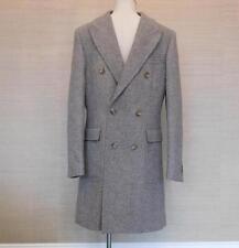 $495 JCrew Ludlow Double Breasted Topcoat English Wool 36S Light Grey c8737 Coat