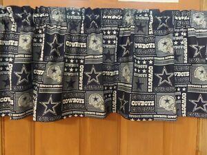 NFL DALLAS COWBOYS, Handmade Sports Team Bedroom Curtain Valances, Patchwork