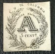 COLOMBIA.1865. REGISTRATION. 5 C. MNG. SCOTT# F2.CAT.VAL. 110 US$.LOOK!
