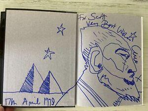 Clive Barker Signed Book With Rare Original Hand Drawn Art A-Z Of Horror Hardbac