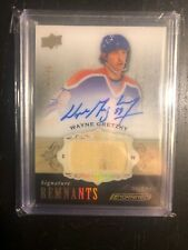 2018-19 UD Engrained Wayne Gretzky Signature Remnants Game Used Stick Auto /15