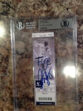 AROD ALEX RODRIGUEZ 3000 Hit Beckett Autograph signed ticket YANKEES