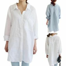 US Women Oversized Long Sleeve Casual Blouse Lady Loose Shirt Tops Coat Outwear