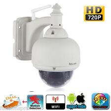 Sricam 720P sans-fil H.264 Dôme étanche Wifi WLAN ir-coupe Caméra IP Prise EU