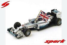 1/18 Spark Model Mercedes F1 W05  Abu Dhabi GP 2014  L.Hamilton  W.Champion