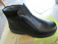 NEW NAOT LYNX BLACK LEATHER ANKLE BOOTS BOOTIES WOMENS 37  WOMENS 6 - 6.5 ZIP