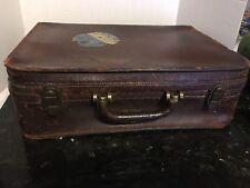 Abercrombie & Fitch Vintage Leather Travel Suitcase Luggage