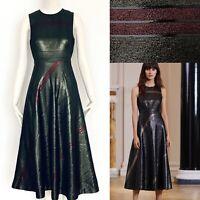 GORGEOUS LK BENNETT KHAKI METALLIC POLLY DRESS SIZE UK 10 RRP £450