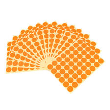 720Pcs 25mm Dots Sticker Round Circle Blank Labels Self Adhesive- Orange