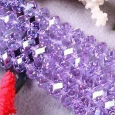 98pc Purple Austrian crystal Gemstone Loose Beads 4x6mm free shipping
