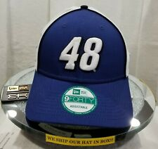 JOHNSON 48~NASCAR~NEW ERA~9FORTY~TRUCK TEAR~BLUE & WHITE~ADJUSTABLE