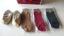 "American Girl JOSEFINA SHOES & 3 PAIRS SOCKS for Her Clothing For 18"" Dolls NEW"