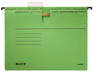 Leitz 1984 Hängehefter 5 Stück ALPHA® - kfm. Heftung, Colorspankarton, grün A4
