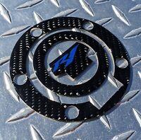 REAL Carbon Fibre Yamaha R1 Fuel / Gas Cap Cover Tank Pad R1S R1M Blue Logo
