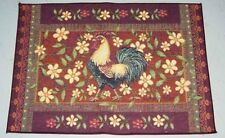 Mediterráneo gallo & Tapicería Floral Alfombra de tendencia