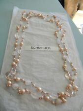 Premier Designs PRIMROSE rose gold pearl bead necklace RV $55 free ship nwt
