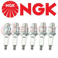Set of 6 Spark Plugs NGK Non-Resistor New BU8H / BU 8 H / 6431
