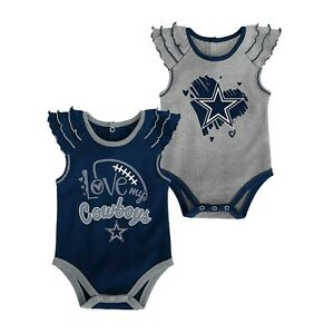 DALLAS COWBOYS OFFICIAL NFL INFANT TOUCHDOWN 2 PIECE CREEPER SET NEW WITH TAGS