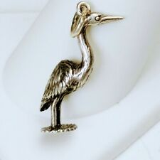 925 Sterling Silver Stork Charm or Pendant