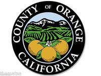 "COUNTY OF ORANGE 4"" HELMET CAR STICKER DECAL MADE IN USA"