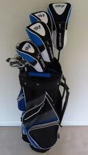 NEW Tall Mens Golf Club Set Driver, 3 & 5 Woods, Hybrid, Irons, Cart Bag Stiff