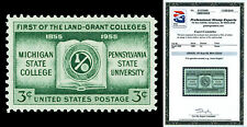 Scott 1065 1955 3c Land Grant Issue Mint Graded XF Sup 95 NH with PSE CERT