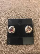 """Toned Earrings $53 (Dc) Premier Designs """"Amelia"""" Gold/Silver/Red"""