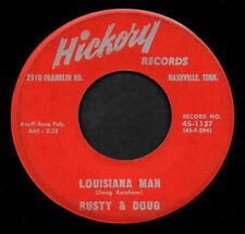 "RUSTY & DOUG ""LOUISIANA MAN/Make Me..."" HICKORY 45-1137 (1960) 45rpm RED LABEL"