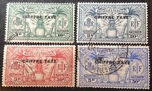 New Hebrides 1925 4 x Postage Due stamps vfu