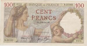 100 FRANCS SULLY  5 - 6 - 1941