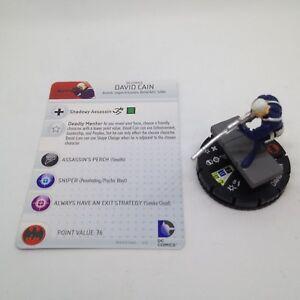 Heroclix Batman: Streets of Gotham set David Cain #038 Super Rare figure w/card!