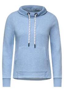 CECIL Damen Sweat-Pullover Sweatshirt Taschen light blue melange blau 9256 NEU
