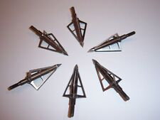 6  Rocky Mountain 3 Blade 100 Grain Archery Broadheads Arrows Hunting