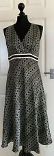 Coast Dress | Size 12 | Aztec Print | Silk Shell | Lines | Occasion | Summer