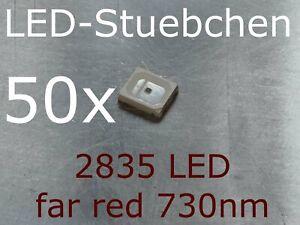 50x 2835 LED Infrarot / far red 730nm, grow LED