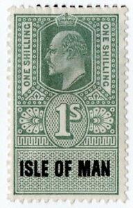 (I.B) Edward VII Revenue : Isle of Man 1/-